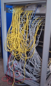 Small Comms Cat5 Cabinet before re-work