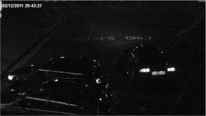 HD CCTV at Night view of car numberplate