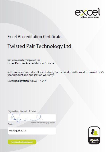 Excel Certification Certificate