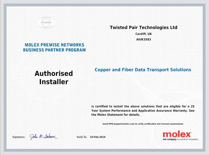Molex Authorised Installer