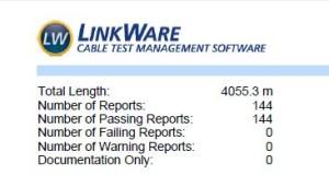 Fluke Linkware report summary