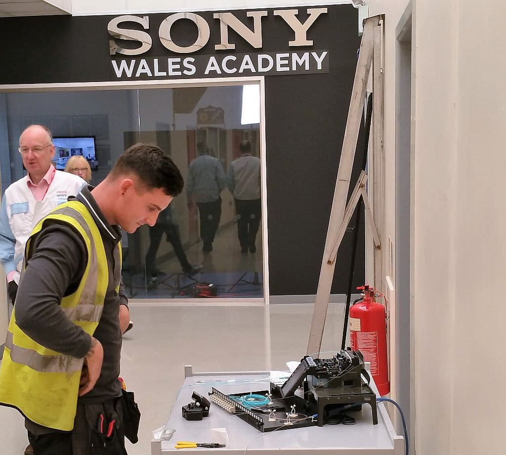 Sony Fibre Optic network installation