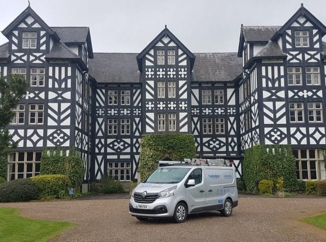 Ultra fast WIFI installation at Gregynog Hall