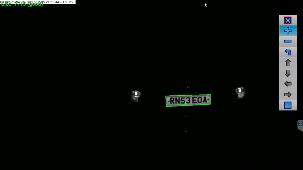 ANPR automatic number plate recognition image with plate identified
