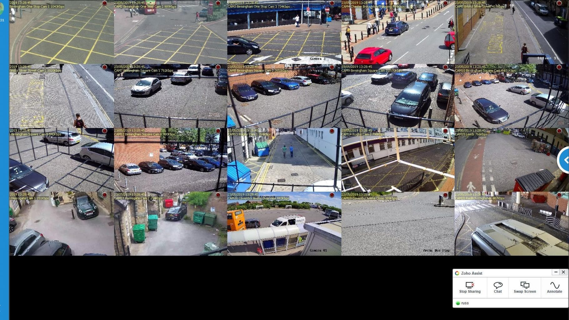 Multi Site Remote CCTV for parking